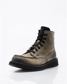 Prada Genuine Leather Lace-Up Boots- Made in Italy Lace-up #RubbersoleMen #Shoes