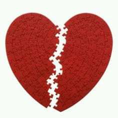 A borken heart is not very easy to put back together it takes time and healing
