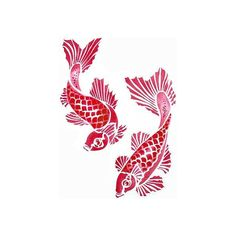 Koi Carp Stencil (63 CAD) ❤ liked on Polyvore featuring animals, backgrounds, fillers, fish and art