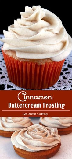 Our Best Cinnamon Buttercream Frosting is the perfect frosting for your pumpkin apple carrot or spice cake cupcake bread or bar It is super delicious and so easy to make. Homemade Frosting, Frosting Recipes, Cupcake Recipes, Baking Recipes, Cupcake Cakes, Dessert Recipes, Frosting Tips, Frosting Techniques, Gourmet Cupcakes