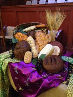 Sanctuary Altar 2014, World Communion Sunday. Grace Avenue UMC, Frisco, TX
