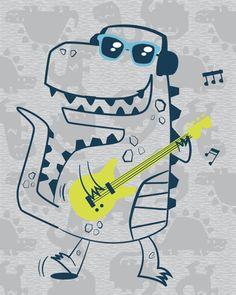 Imagenes de niños Dinosaur Illustration, Baby Posters, Dinosaur Funny, Kawaii, Children Images, Baby Prints, Monster, T Rex, Kids And Parenting