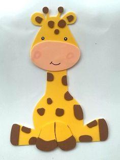 Giraffe made out of foam Foam Crafts, Preschool Crafts, Diy And Crafts, Crafts For Kids, Paper Crafts, Giraffe Crafts, Animal Crafts, Baby Shawer, Baby Kind