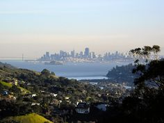 View from Ringmountain to San Francisco