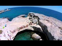 Salento LA GROTTA DELLA POESIA☑ (ROCA LE)...& DRONE - YouTube