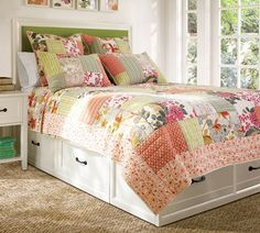 Stratton Storage Platform Bed with Drawers Floral Bedroom, Modern Bedroom Decor, Home Bedroom, Modern Decor, Bedroom Furniture, Platform Bed With Drawers, Bed Frame With Drawers, Platform Bed Frame, Bed With Underbed