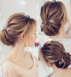 Featured Hairstyle: tonyastylist (Tonya Pushkareva) instagram.com/tonyastylist; Wedding hairstyle idea, click to see more details; Wedding hairstyle idea.