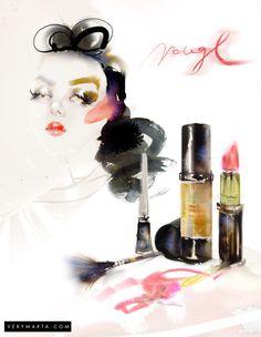 makeup-watercolor-fashion-illustration-get-the-look-cosmetics-marta-spendowska-verymarta