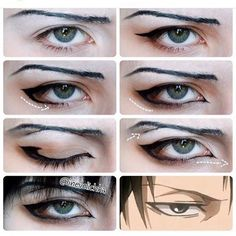 Credit to @inevelichka hope they don't mind but I'm totally gonna try this one day  it's seems really useful  Tags  #anime #manga #attackontitan #shingekinokyojin #levi #leviheichou #captainlevi #heichou #captain #rivaille #rivailleheichou #captainrivaille #cosplay #levicosplay #cosplaytutorial #cosplaymakeup #cosplaymakeuptutorial