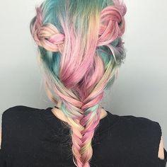Haare mit kreide bemalen