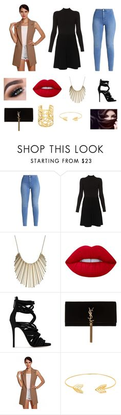 """Shimmer shimmer"" by dreamforeveryoung ❤ liked on Polyvore featuring Paule Ka, Jennifer Lopez, Lime Crime, Giuseppe Zanotti, Yves Saint Laurent and Lord & Taylor"