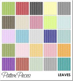 Free Printable - Pattern Pieces - Leaves