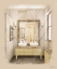 Bathroom interior on Behance