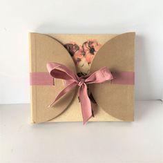 Artworks Blank Peach Floral Mauve Bow Journal #Artworks
