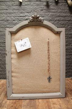 Prikbord van oude spiegellijst | Eigen collectie | Tante Jo & Zo