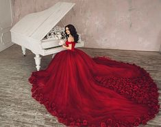 IG: @dress.empire Rose Dress, Red Roses, Ball Gowns, Empire, Tulle, Formal Dresses, Skirts, Fashion, Pink Sundress