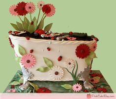 Love this flower box cake!