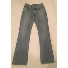 Lucky Brand Dungarees Light Boot Cut Size 0 / 25 Lucky Brand Dungarees Light Wash Easy Rider Boot Cut Size 0 / 25  Worn all over, but no holes. Bottoms are frayed a bit- shown in photos. Lucky Brand Jeans Boot Cut