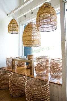 tunisian shezad seagrass lamp shade – Lost & Found Boho Lighting, Basket Lighting, Rattan, Seagrass Baskets, Unique Lamps, Bedding Shop, Scandinavian Interior, Home Decor Accessories, Decorating Your Home