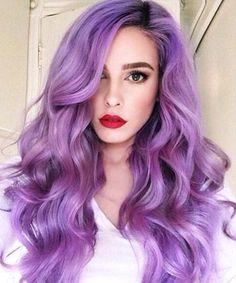 Haare lila