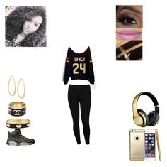 """Marshawn lynch"" by heavenladybugsmith on Polyvore featuring M&Co, Fornash, Kenneth Jay Lane, Chanel and Kane"