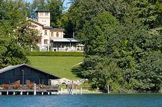 View from Lake Starnberg Explore, Mansions, House Styles, Outdoor Decor, Home Decor, Mariage, Luxury Houses, Interior Design, Home Interior Design