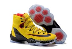 df72c22ee6a3c 2017 Nike LeBron 13 Elite Yellow Black-Red Mens Basketball Shoes Free  Shipping G7ZBn