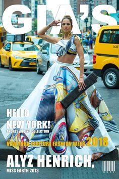 Andres Aquino fashion inspired in Monaco auto race. Cover of Gia Magazine