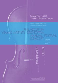 Philadelphia Young Artists Orchestra • 2006 • Mendelssohn: Violin Concerto in E Minor • Paone Design Associates