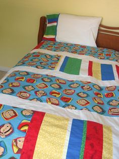 handmade mommy: Quilted Duvet Cover...with how-to