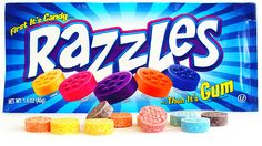 OMg my favorite candy/gum Razzle red! :D