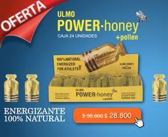 Obtén más energía y aumenta tu resistencia con Ulmo Power Honey. El primer Gel Chileno 100% Natural. http://www.sansport.com/producto/ulmo-power-honey-24-unidades