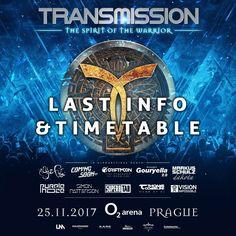 Transmission Prague 2017 last info and timetable!  #TranceFamily
