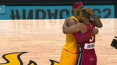 It was all love between the two friends but D.Wade scored 31 and LeBron scored 30 as the Heat beat the Cavs on Christmas day. #Heat #Cavs #Friendsfirst