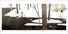 Extra Yarn page 17 (Town shore) by Jon Klassen - Gallery Nucleus