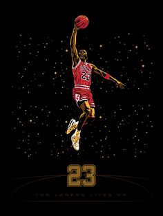 "Todays Galerie F Exclusive Print Release  -Celebrating MJs Big 5-0!    ""On Monday, Feb 11th [2pm CST] Galerie F wil be releasing four exclusive prints as an extension of our Galerie F Exclusive Series.   This month we pay homage to the unstoppable Michael Jordan - 50 years for the #23...""    Available at www.galerief.com    ""#23"" by Tracie Ching. Edition of 50, 18""x24"". $35"