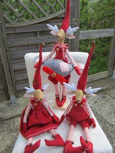 Weihnachtsdeko - Süßes Rentier, Elch, mit Flugzeug - ein Designerstück von Sweet-Home-IrisGorhold bei DaWanda