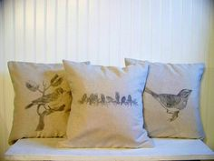 set of three antique image pillows  spring home by jennilyons81, $53.99