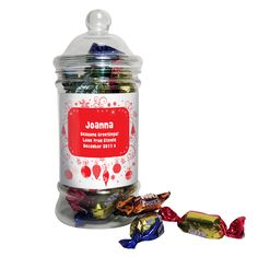 Personalised Christmas Traditional Toffee Jar What could be better than a jar of scrumptious Toffee this Christmas from Creative Gifts uk