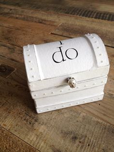 """The """"I do"""" Bride & Groom Wedding Ring Holder/Ring Bearer Pillow Box w/Pearl Accents on Etsy, $21.00"""
