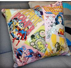 Wonder Woman / Girl Power Pillow Cover, 16x16. $28.00, via Etsy.