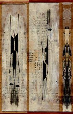 Linda Vachon ... entre les mots et l'image: colle / papier /