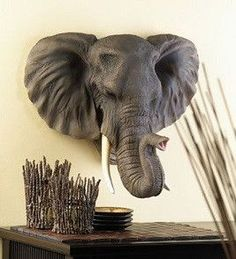 Buy Noble Elephant Wall Decor at wholesale prices. If you need Noble Elephant Wall Decor in bulk at a discount price then buy from WholesaleMart. Elephant Wall Decor, Elephant Love, Elephant Head, Bull Elephant, Elephant Elephant, Safari Home Decor, Safari Decorations, Elephant Decorations, Wall Decorations