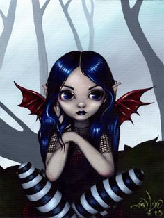 Gothic Fairy :  Lost but Not Worried - Jasmine Becket-Griffith