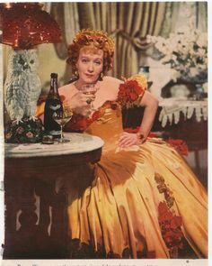 """Ona Munson as Belle Watling in """"Gone with the Wind"""" wearing Joseff Hollywood Bell earrings. Does anybody else love her owl lamp? Old Hollywood Glamour, Vintage Hollywood, Classic Hollywood, Old Movies, Great Movies, Olivia De Havilland, Tomorrow Is Another Day, Scarlett O'hara, The Best Films"""