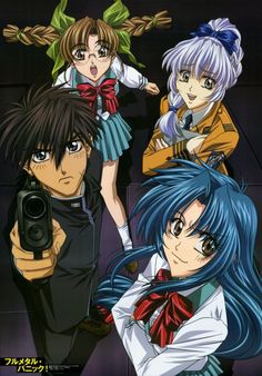 Full Metal Panic!- Sousuke spent his life in the military.  Now he must blend in as a normal teen in order to protect Kaname.