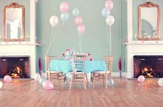 Valentines Day Party Inspiration - The Sweetest Occasion Pastel Balloons, Metallic Balloons, Pastel Party, Amazing Weddings, Throw A Party, Bridal Shower Decorations, Wedding Decorations, Valentines Day Party, School Parties