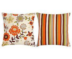Conjunto de almofadas garden flowers - 45x45cm
