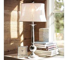 Gillian Candlestick Lamp Base #potterybarn