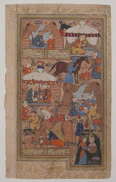 """The Metropolitan Museum of Art - """"Yusuf is Drawn Up from the Well"""", Folio from a Yusuf and Zulaikha of Jami (1414 -1492) Illus from late 16th c"""